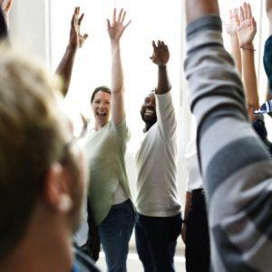 Startup Business People Teamwork Cooperation Hands Up Agreement Together
